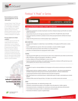 WatchGuard Firebox® X Peak™ e-Series