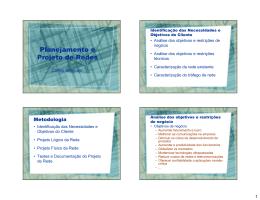 Planejamento e Projeto de Redes