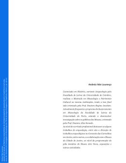 Andreia Vale Lourenço - Universidade do Porto