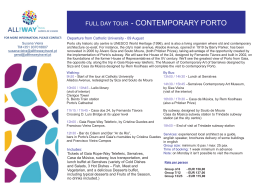 Full Day Contemporary Porto