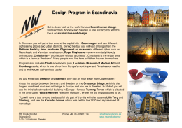 Design Program in Scandinavia