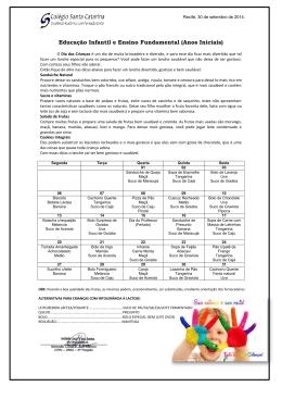 Educação Infantil e Ensino Fundamental (Anos Iniciais)