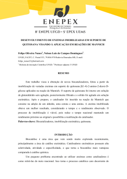 DESENVOLVIMENTO DE ENZIMAS IMOBILIZADAS EM