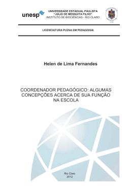 Helen de Lima Fernandes COORDENADOR PEDAGÓGICO