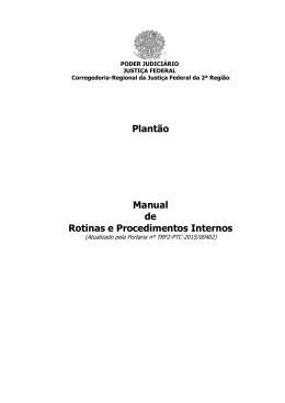 Plantão - Tribunal Regional Federal da 2ª Região
