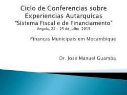 o sistema fiscal das autarquias 2013 angola