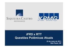 IFRS x RTT Questões Polêmicas Atuais - Siqueira Castro