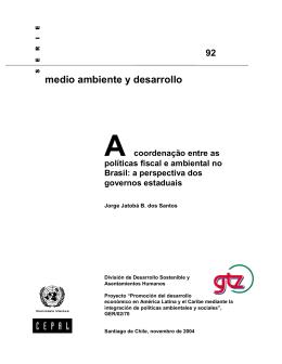 A coordenação entre as políticas fiscal e ambiental no Brasil