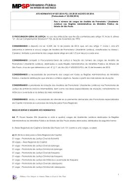 Ato Normativo nº 827 - PGJ, de 28/08/2014