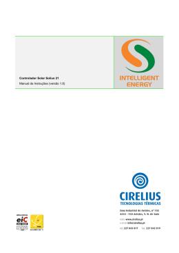 Controlador Solar Solius 21 Manual de Instruções (versão