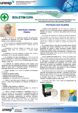 Proteção contra poeira e dos pulmões