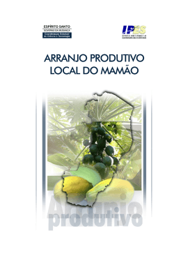 arranjo produtivo local do mamão - Instituto Jones dos Santos Neves