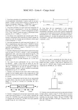 MAC-015 – Lista 4 – Carga Axial