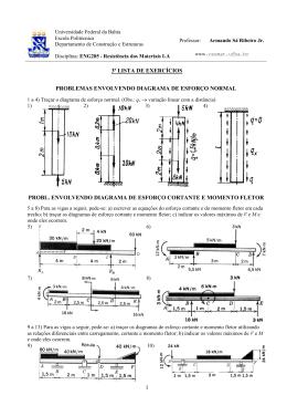 1 3ª lista de exercícios problemas envolvendo diagrama de esforço