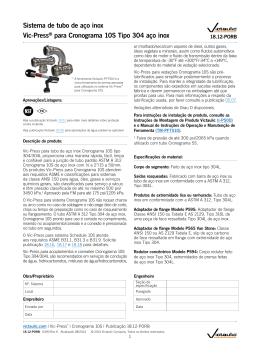 Sistema de tubo de aço inox Vic-Press® para