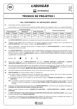 PROVA 9 - TÉCNICO DE PROJETOS I.indd