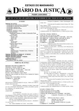 IÁRIO DA JUSTIÇ - Portal do Poder Judiciário do Estado do Maranhão
