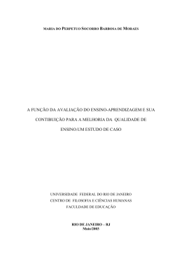 a função da avaliação do ensino-aprendizagem e sua - Latec-UFRJ