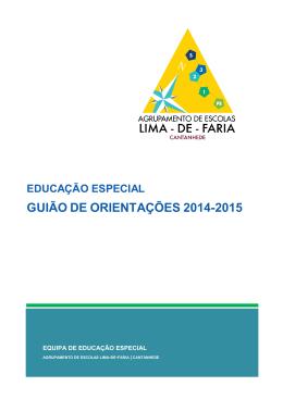 guião de orientações 2014-2015 - Agrupamento de Escolas Lima