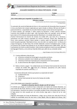 avaliação diagnóstica de língua portuguesa – 8º ano
