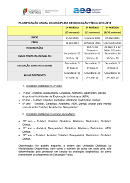 Planificação 3º ciclo e Secundário