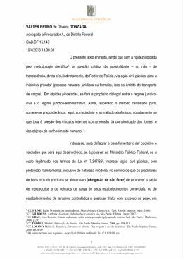 VALTER BRUNO de Oliveira GONZAGA Advogado e Procurador AJ