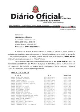 Concursos SEGURANÇA PÚBLICA POLÍCIA MILITAR DO ESTADO