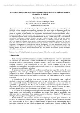 Avaliação de interpoladores para a espacialização de variáveis de