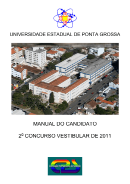 Manual do Candidato - CPS - Universidade Estadual de Ponta Grossa