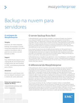 Backup na nuvem para servidores