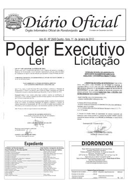 2649 - Diario Oficial 11-01-2012 - Rondonópolis