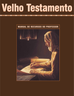 Manual de Recursos do Professor do Velho Testamento