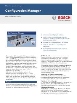 Configuration Manager - Bosch Security Systems