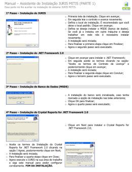 Manual – Assistente de Instalação JURIS MITIS