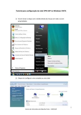 Tutorial para configuração da rede VPN USP no Windows VISTA
