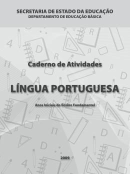 Caderno de Atividades - Língua Portuguesa