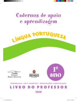 Cadernos de Apoio e Aprendizagem da Língua Portuguesa 1o ano