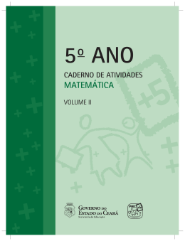 Matemática - CAD DO ALUN - 5º ano - 3º e 4º Bimestre.indd