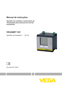 Manual de instruções VEGAMET 381