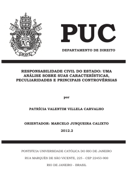 RESPONSABILIDADE CIVIL DO ESTADO - Maxwell - PUC-Rio