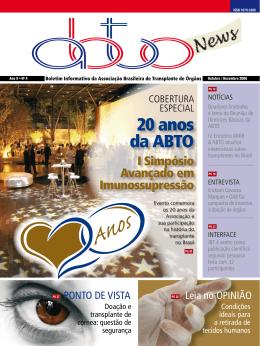 20 anos da ABTO - ABTO | Associação Brasileira de Transplante de