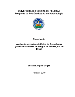 UNIVERSIDADE FEDERAL DE PELOTAS Programa de Pós