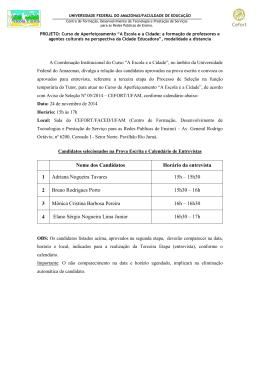 Edital em PDF. - CEFORT