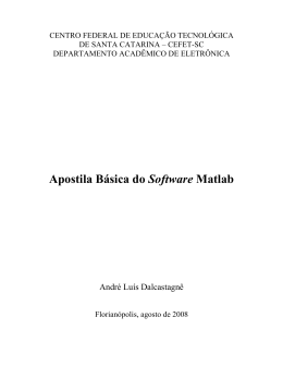 Apostila básica do Software Matlab