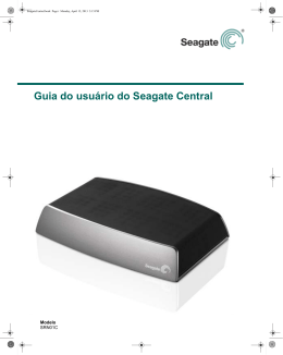 Guia do usuário do Seagate Central