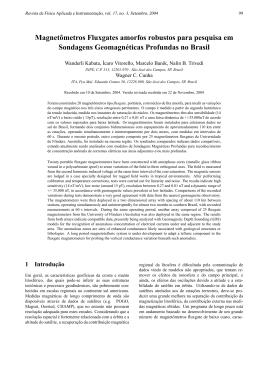 Magnetômetros Fluxgates amorfos robustos para pesquisa em