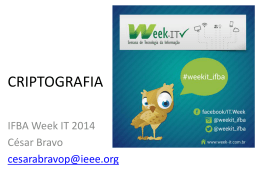 MC19 – Criptografia - Week-IT
