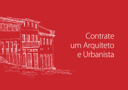 Cartilha do Arquiteto e Urbanista