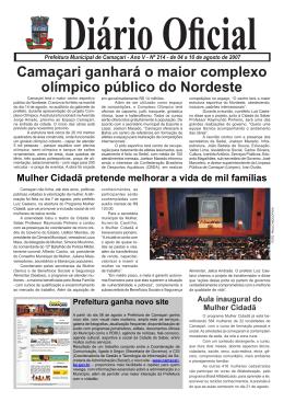 Camaçari ganhará o maior complexo olímpico público do Nordeste