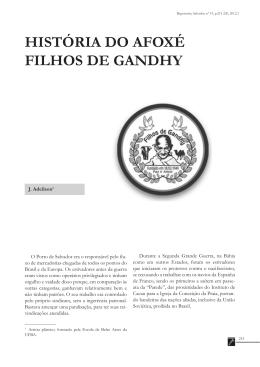 HISTÓRIA DO AFOXÉ FILHOS DE GANDHY
